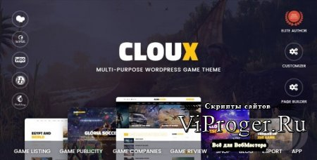 Тема WordPress - Cloux v1.1